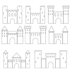 Set of medieval castles vector