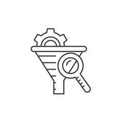 Internet marketing concept sales funnel analysis vector