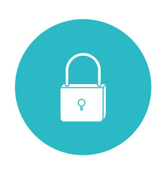 Circle light blue with padlock icon vector