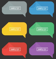 Speech bubble flat design set vector
