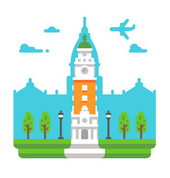 Flat design torre monumental vector