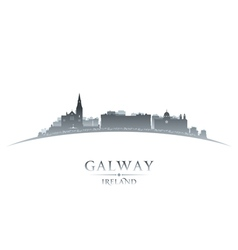 Galway Ireland city skyline silhouette vector image