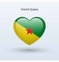 Love french guiana symbol heart flag icon vector