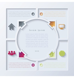 Abstract infographic design with circle and arrows vector image