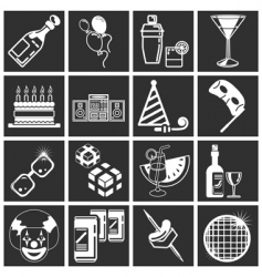 Party icon set series vector