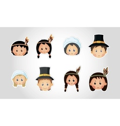 Funny kids - thanksgiving day vector
