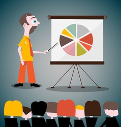 Presentation with businessman vector