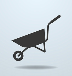 Icon of wheelbarrow vector