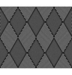 Abstract striped rhombuses geometric seamless vector