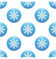 Snowflake sign pattern vector image