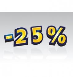 25 percent reduced vector