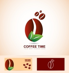 Organic coffee beans vector image