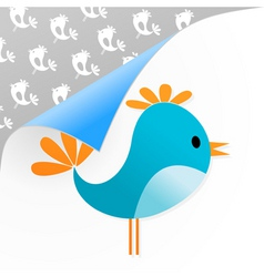 small dark blue bird on a white background a vecto vector image