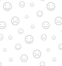 Smiley faces seamless background vector