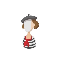 Mime icon cartoon style vector