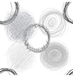 Scribble circles seamless pattern vector