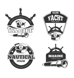 Nautical signs labels and badges vector