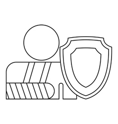 A man with a broken hand icon outline style vector