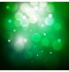 Abstract circular green bokeh background vector image vector image