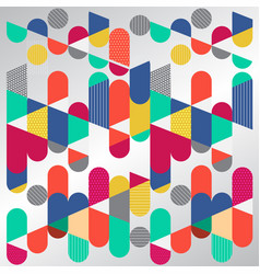 Abstract geometric graphic colorful circle vector