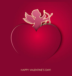 angel valentines day vector image