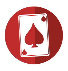 April fools day card aces shadow vector
