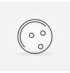 Bowling ball icon or logo vector image