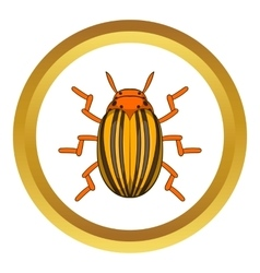 Colorado potato beetle icon vector