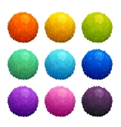 Colorful cartoon furry balls vector image
