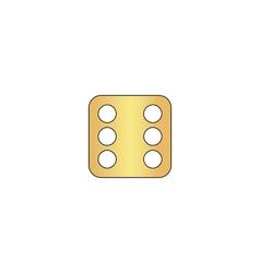 Dice 6 computer symbol vector