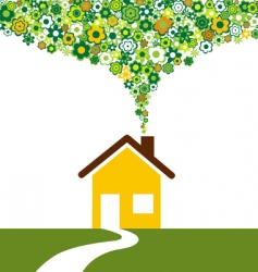 environmentally house vector image