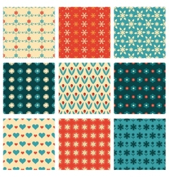 fashionable and cute patterns vector image