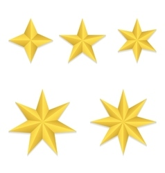 Five different stars vector image