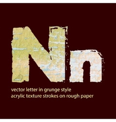 grungy letter N vector image