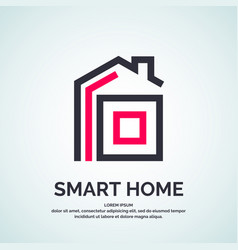 house logo smart vector image vector image