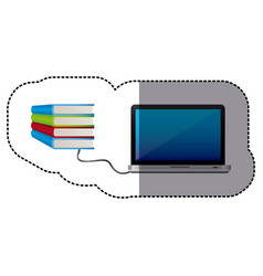 Knowledge online in computer books vector