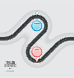 Navigation map infographic 2 steps timeline vector