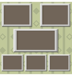 Picture frames on the wall vector image