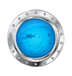Porthole with Underwater Life vector image vector image