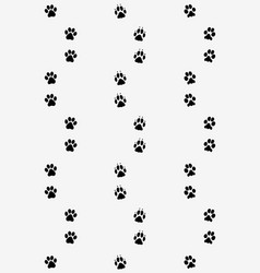 Prints of dog paws vector