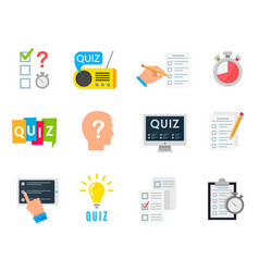 Quiz game icon vector