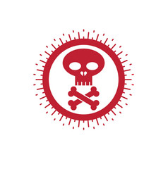 Skull and bones icon isolated on white vector