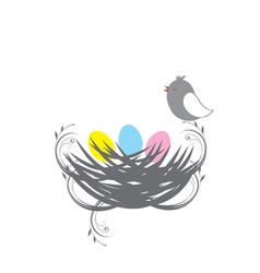 three birds baby vector image vector image