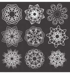 Floral and ornamental elements vector