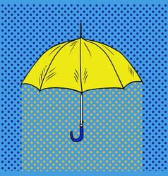 umbrella pop art style vector image