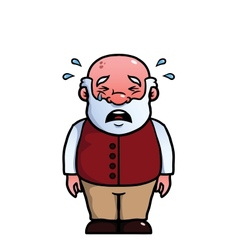 Old man crying vector image