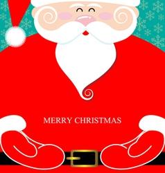 Santa claus present vector
