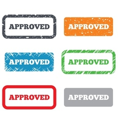 Approved sign icon checked symbol vector