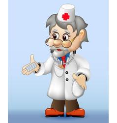 grizzled veteran doctor vector image