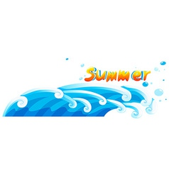 A summer template vector image